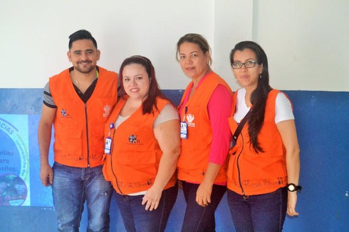 Equipo de FAN, Carlos Mercado, Angie Buriticá, Maris VERGARA y Natalia Vinasco en la socialización del proyecto en la Ciudad.