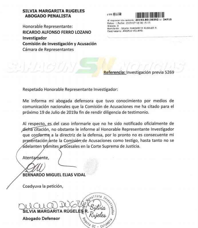 Comunicado Bernardo Elias