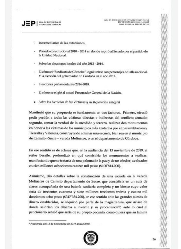 Documento JEP