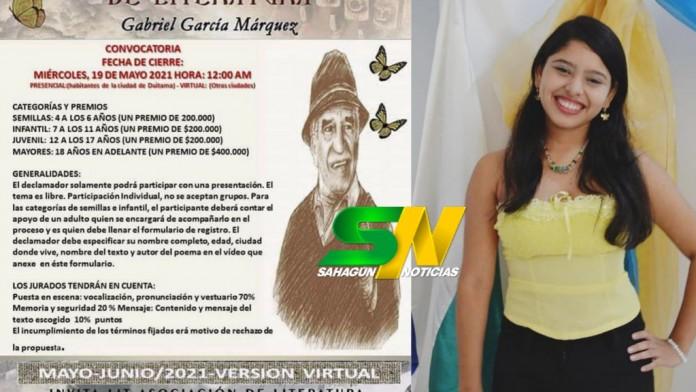 Sahagún ocupo dos primeros lugares en concurso nacional de declamadores Gabriel García Márquez - Noticias de Colombia